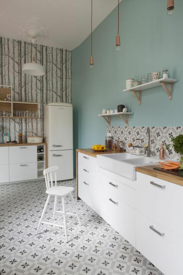 Carrelage bleu et beige - Atwebster.fr - Maison et mobilier