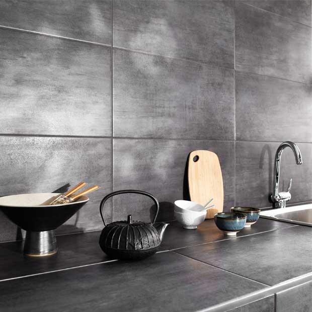 Carrelage mural cuisine gris foncé - Atwebster.fr - Maison et mobilier