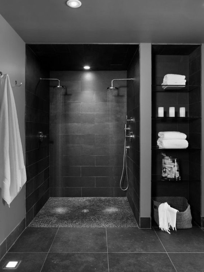 Carrelage gris foncé salle de bain - Atwebster.fr - Maison et mobilier