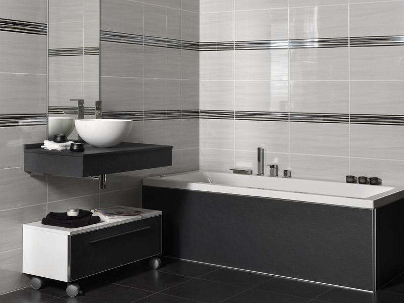 Idée carrelage salle de bain blanc et gris - Atwebster.fr - Maison ...