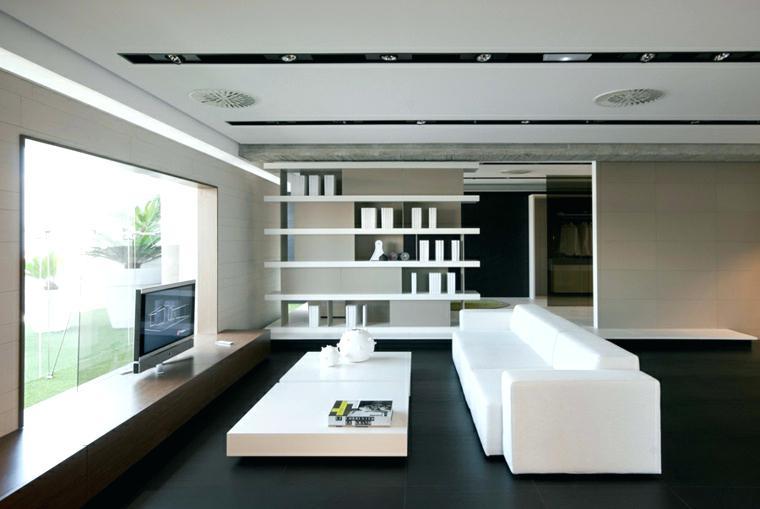 Salon carrelage blanc et noir