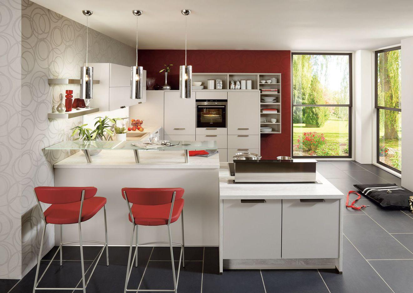Idee deco salon avec cuisine americaine - Atwebster.fr - Maison et ...