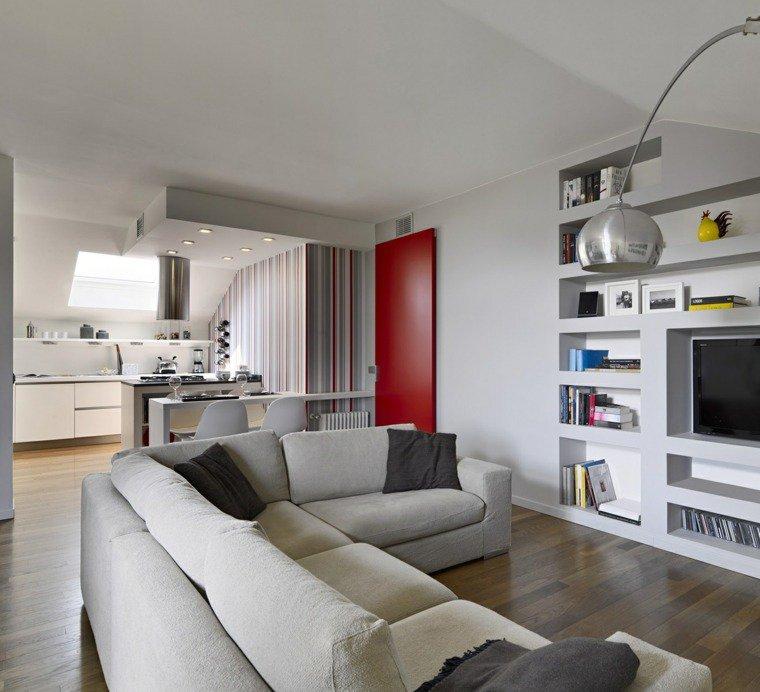 Photo petite cuisine ouverte sur salon - Plan de maison avec cuisine ouverte ...