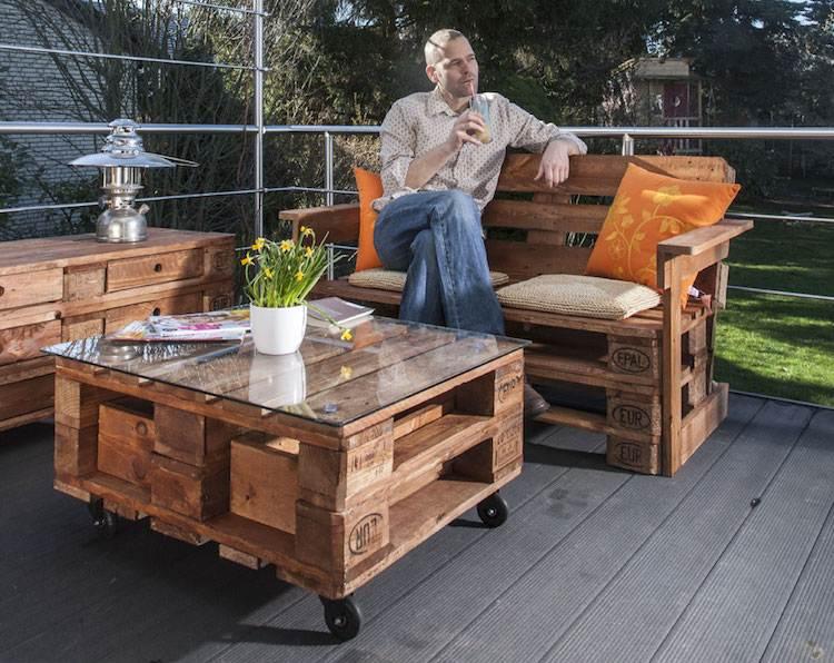 Table basse jardin avec palette - Atwebster.fr - Maison et mobilier