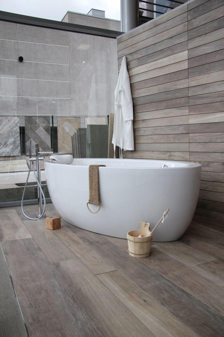 Carrelage salle de bain imitation bambou
