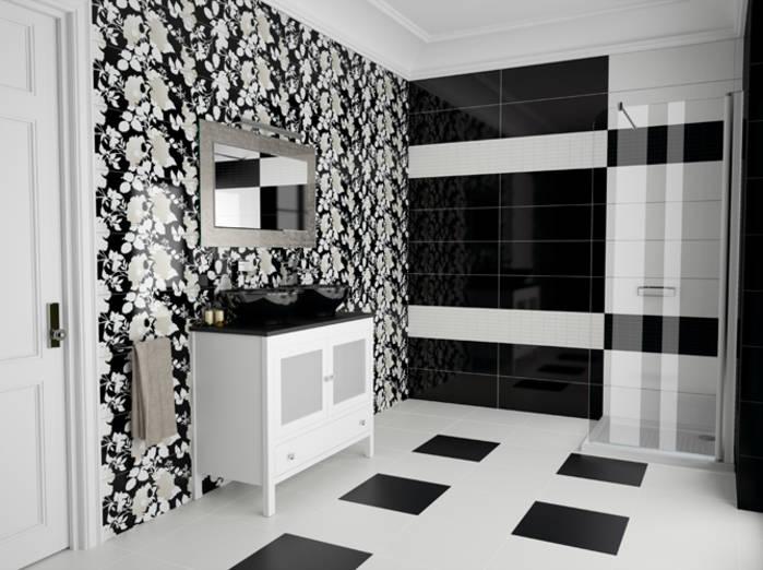 Carrelage salle de bain noir et blanc - Atwebster.fr - Maison et ...