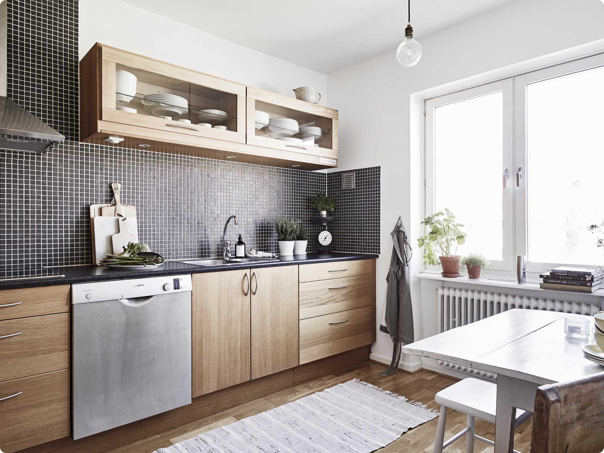 Deco cuisine blanc gris bois maison et - Cuisine bois gris clair ...