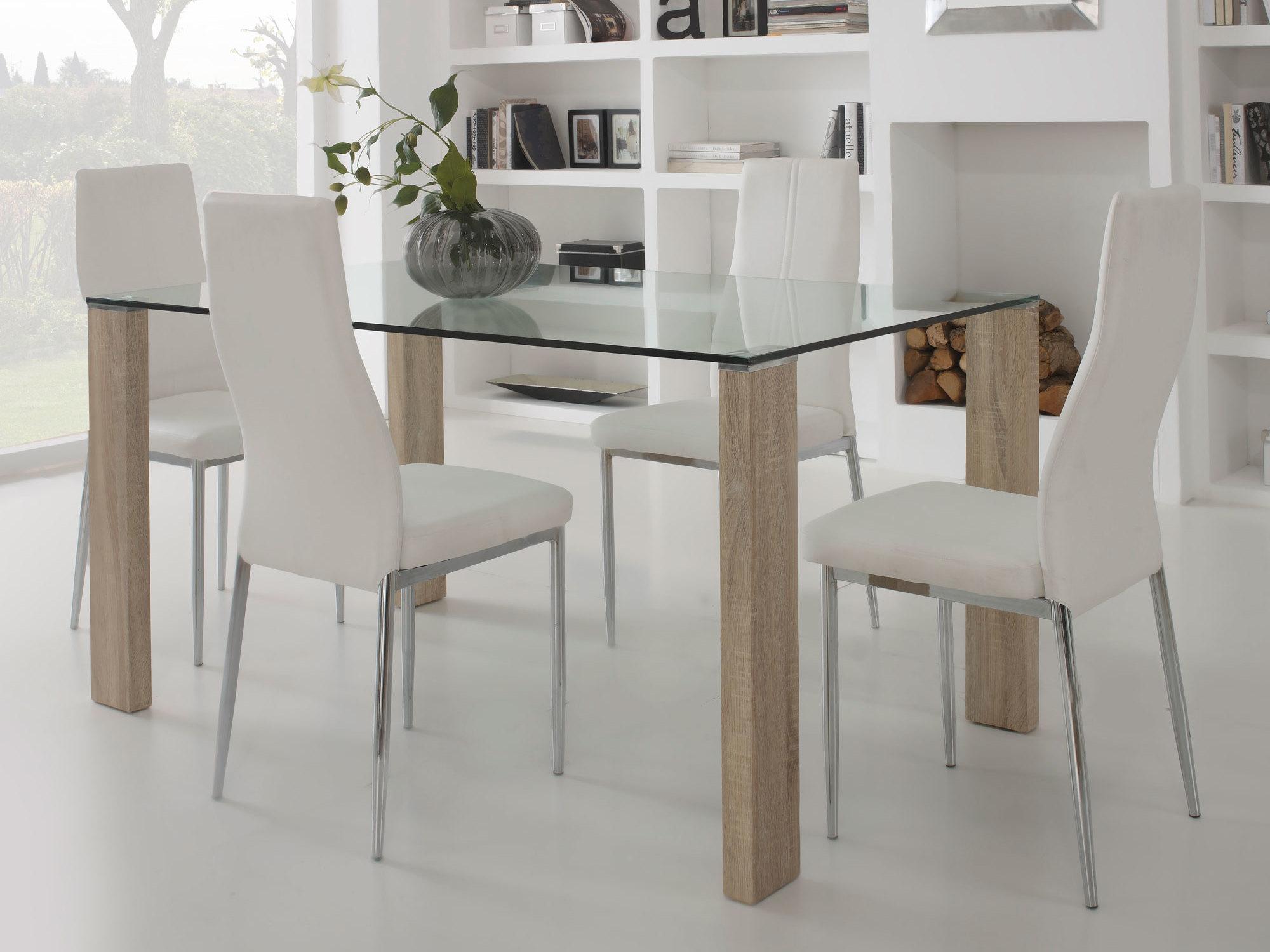 table de cuisine moderne en verre maison. Black Bedroom Furniture Sets. Home Design Ideas