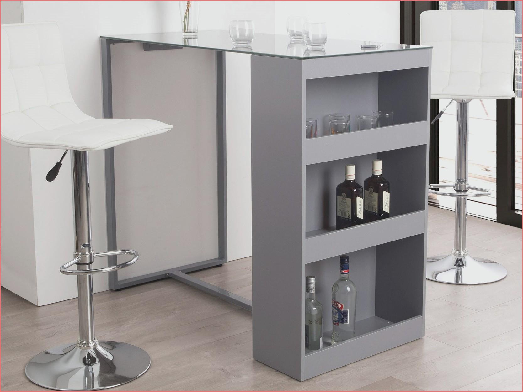 Table haute bar avec rangement - Atwebster.fr - Maison et mobilier
