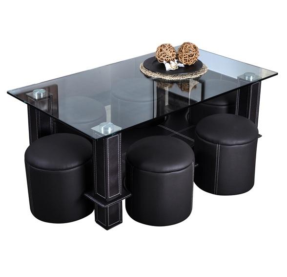 Table Basse Avec Pouf En Solde Atwebsterfr Maison Et Mobilier