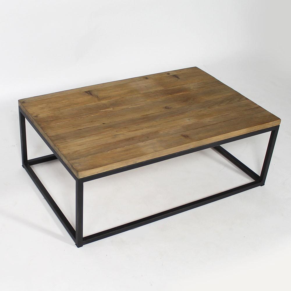 Table Basse Industrielle Métal Et Bois Atwebsterfr Maison Et