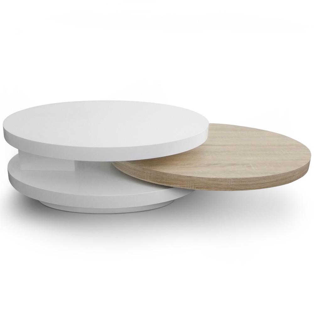 Table Basse Salon Ronde Ou Ovale Atwebsterfr Maison Et Mobilier