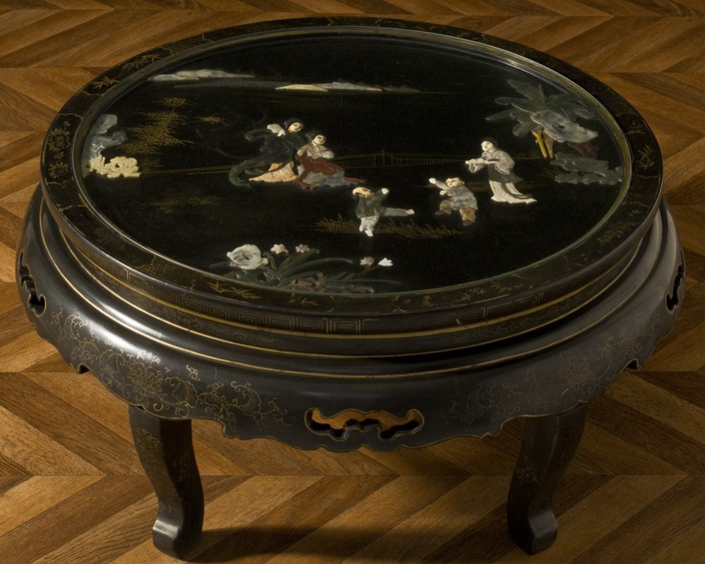 Table basse ronde chinoise