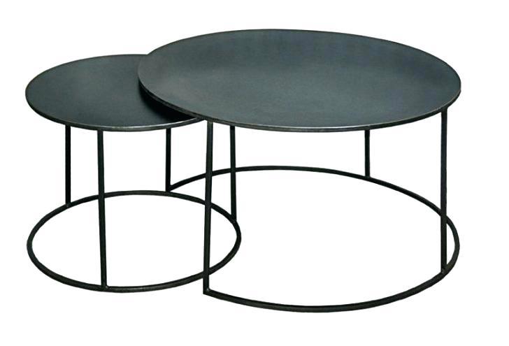 Table Basse Ronde Gigogne En Verre Atwebster Fr Maison Et Mobilier