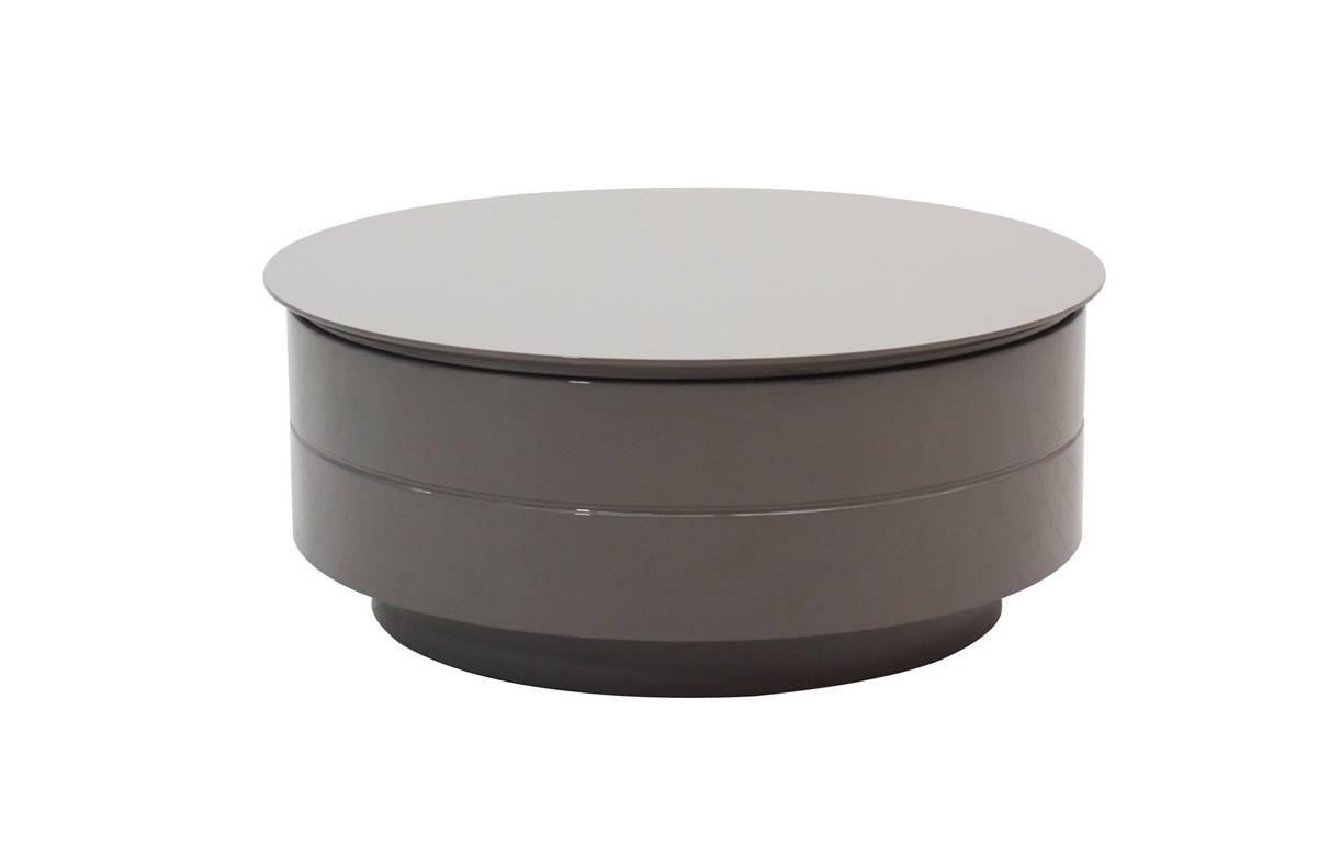 Table basse ronde avec plateau relevable