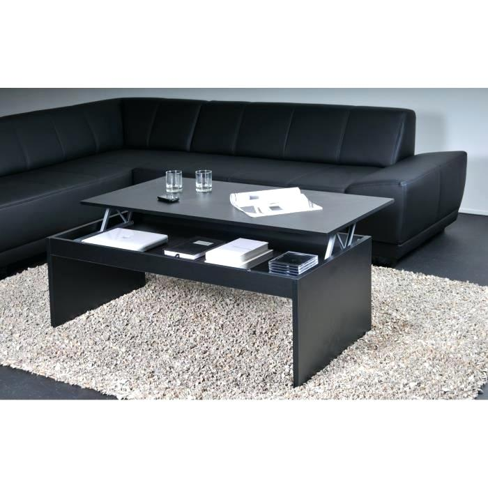 Table basse design noire hypso