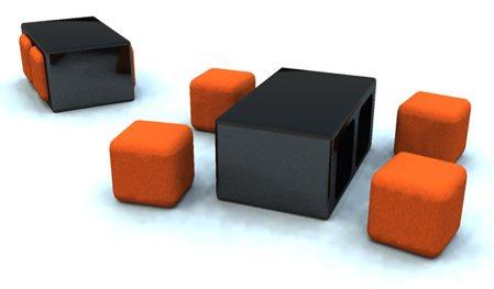 Table Basse Avec Des Poufs Integres Atwebster Fr Maison Et Mobilier