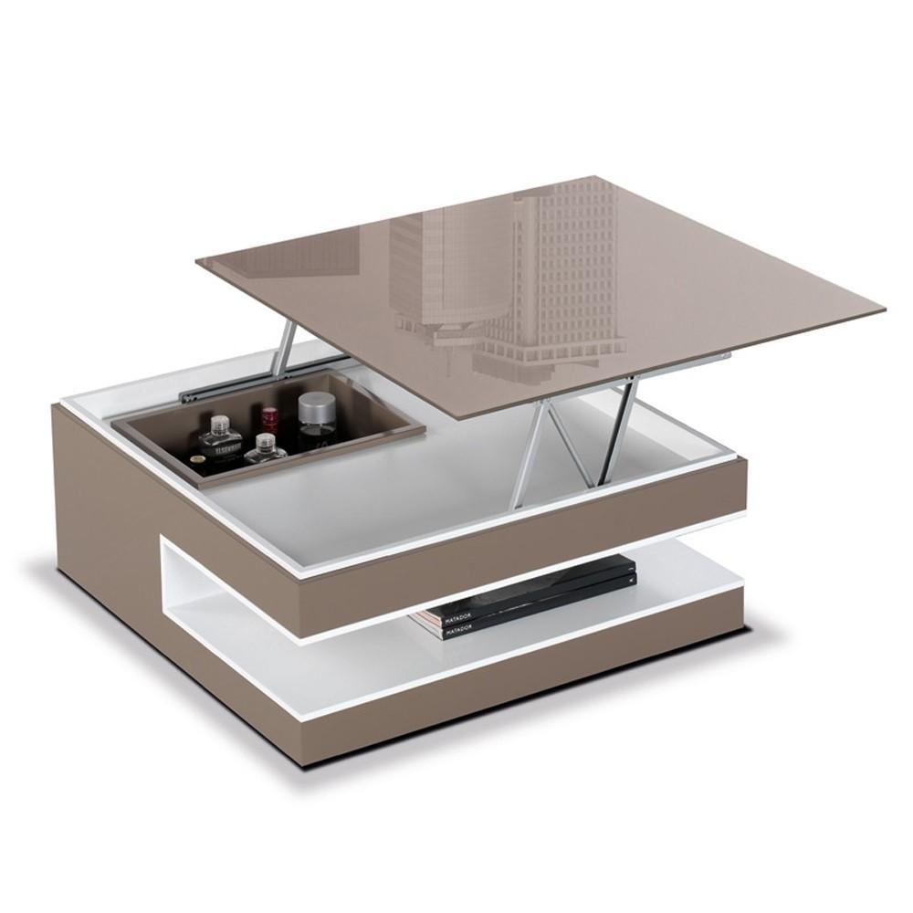 Table Basse En Bois Avec Rangement Bouteille Atwebsterfr Maison