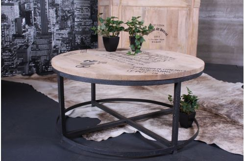 Table basse ronde bar