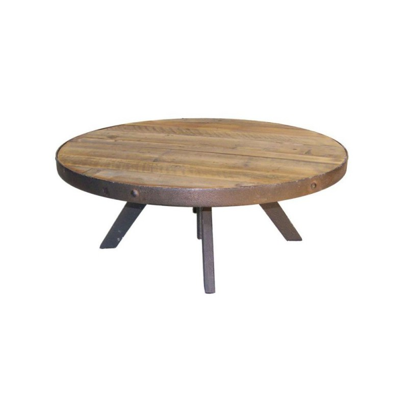 Table Basse Ronde Bois Brut Atwebsterfr Maison Et Mobilier