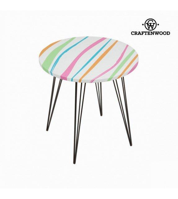 Table basse ronde colorée