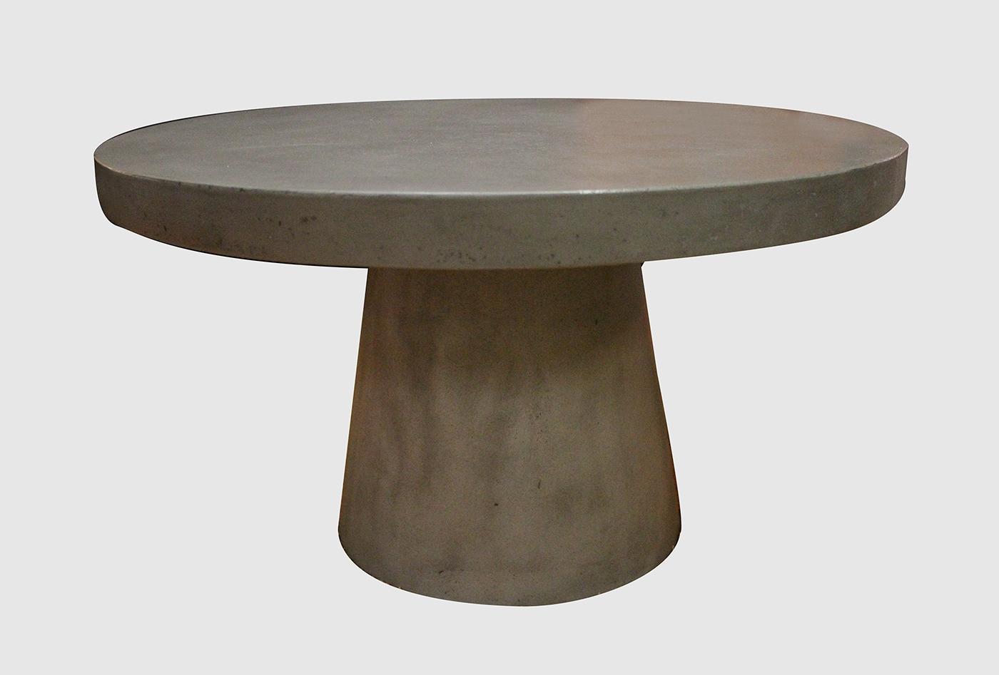 Table basse ronde beton