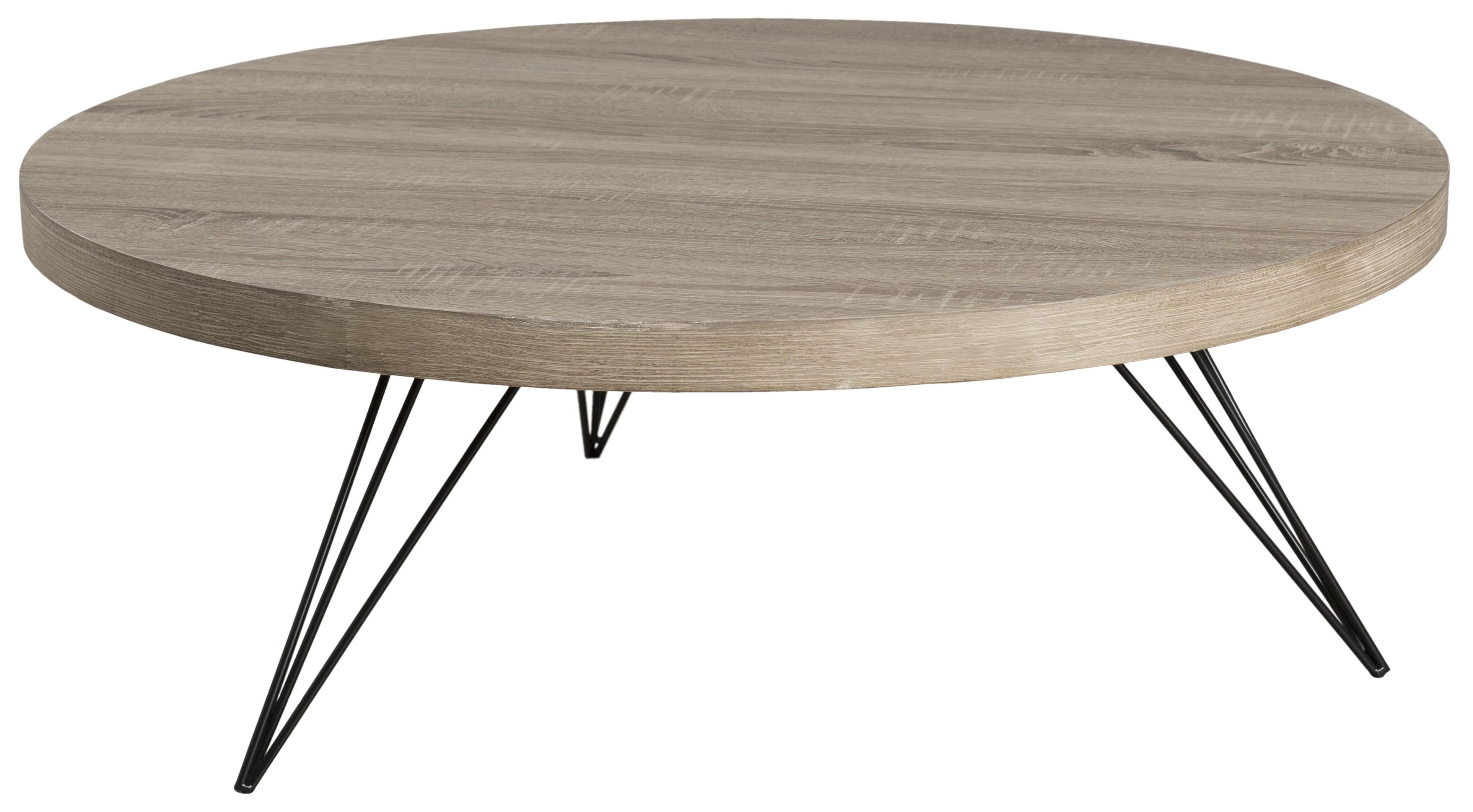 Table basse ronde bois et fer