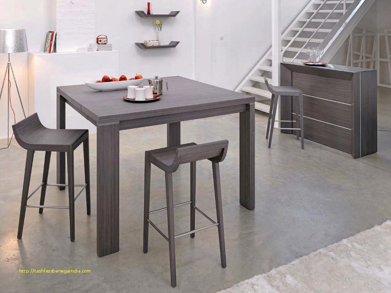 table de cuisine grise et blanche maison. Black Bedroom Furniture Sets. Home Design Ideas