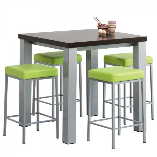 Table haute cuisine avec tabourets maison Table haute avec tabouret pour cuisine