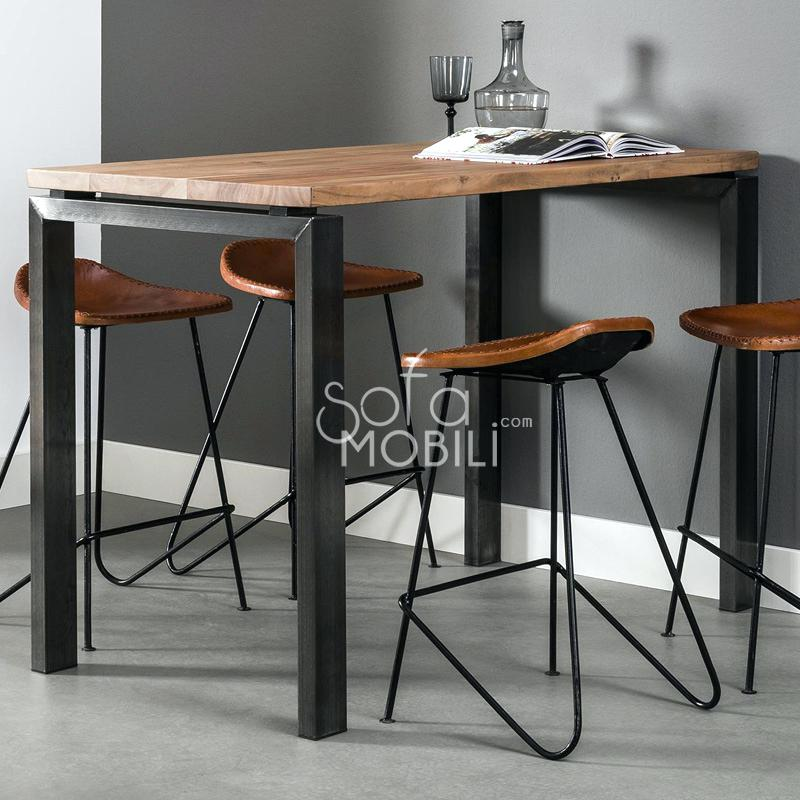 table de cuisine inox et bois maison et. Black Bedroom Furniture Sets. Home Design Ideas