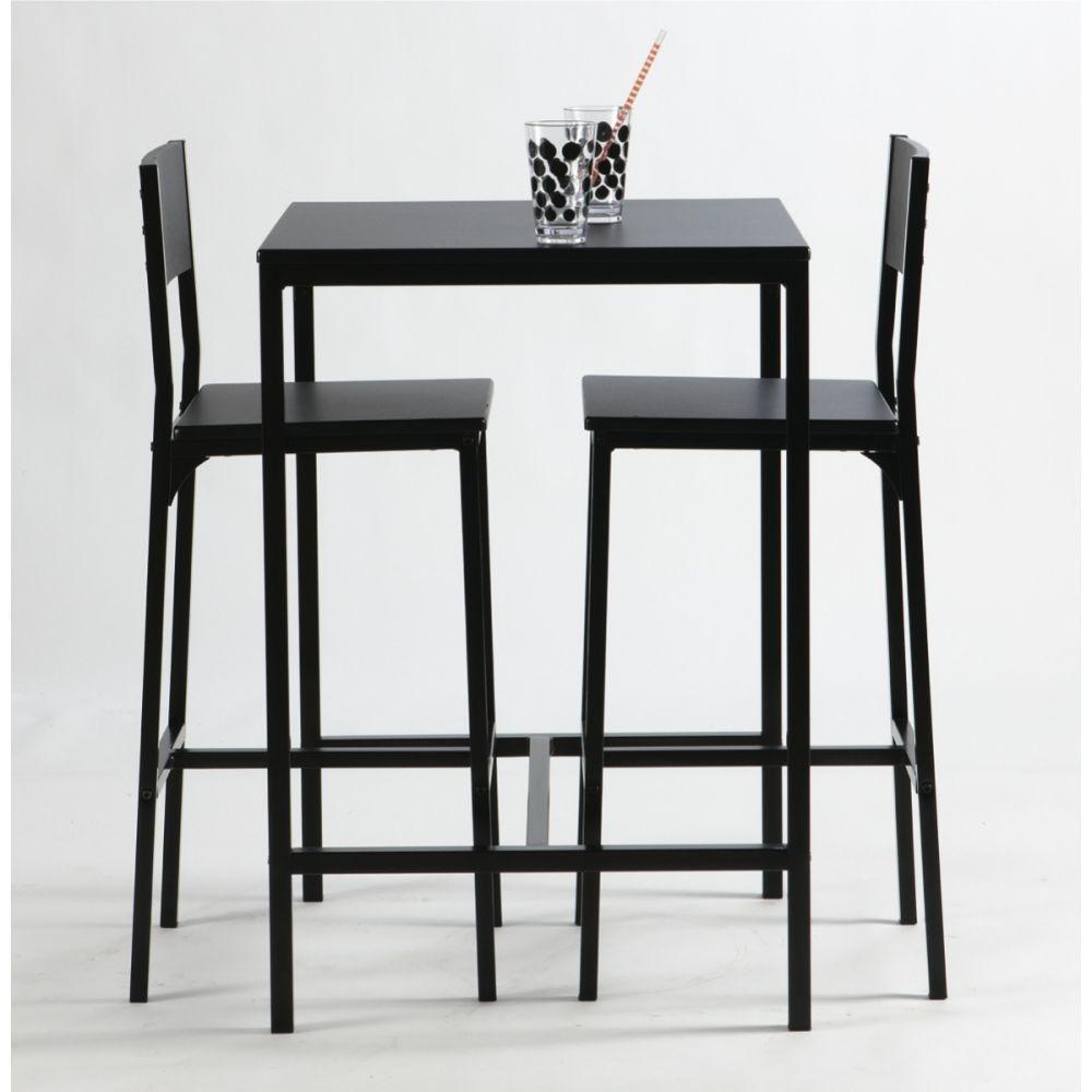 Table haute avec tabouret cuisine maison Table haute avec tabouret pour cuisine