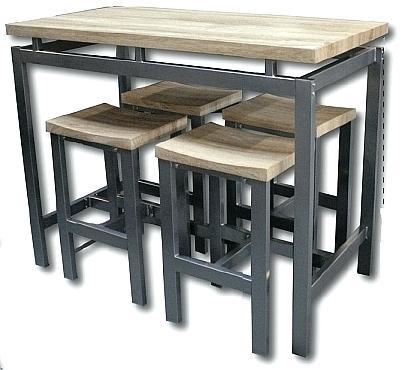 Table haute de cuisine avec tabouret - Table de cuisine haute avec tabouret ...