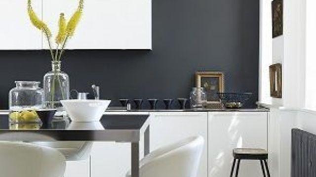 couleur mur cuisine gris anthracite. Black Bedroom Furniture Sets. Home Design Ideas