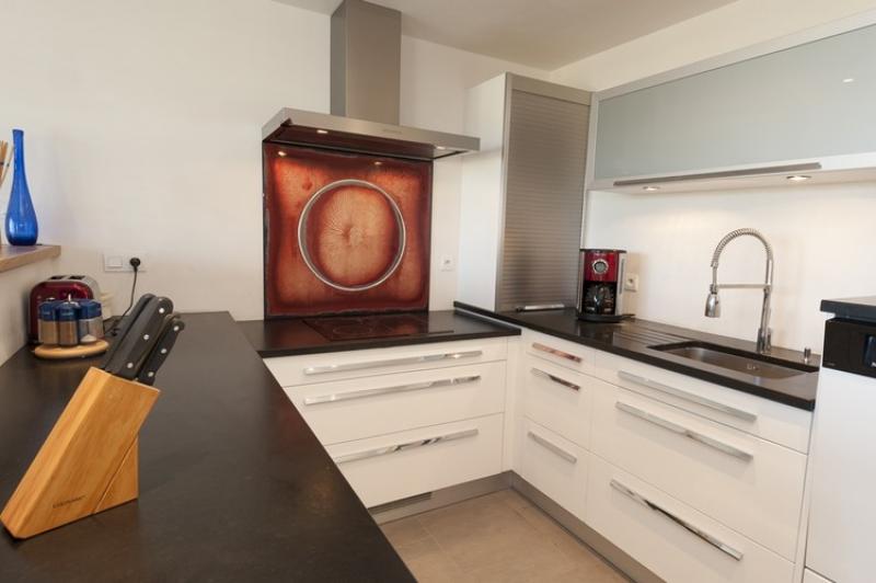 Cuisine Blanc Plan Travail Noir Atwebster Fr Maison Et Mobilier